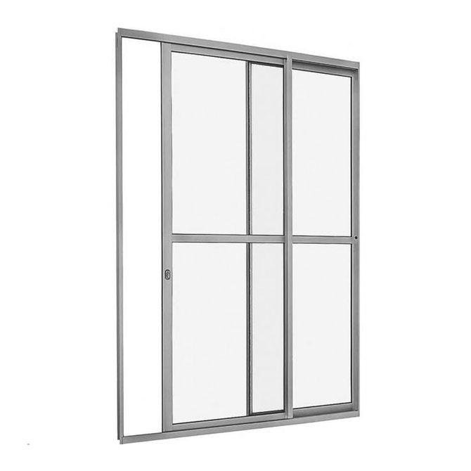 Porta-de-Correr-com-Divisao-Central-AlumiSlim-Branco-Direita-216x160x66cm---78506032---Sasazaki