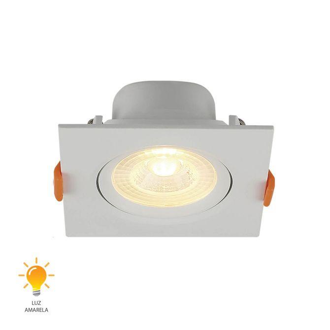 Spot-de-Embutir-LED-Quadrado-6W-Bivolt-Branco-Quente-3000K---80263004---Blumenau