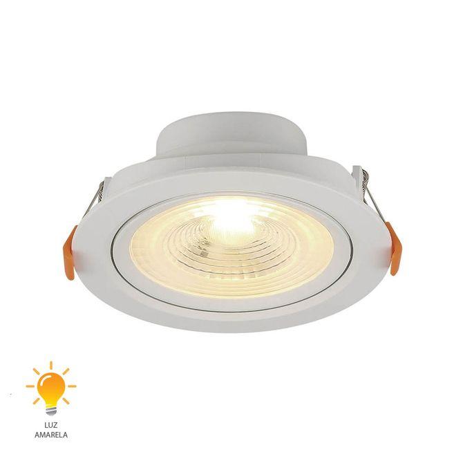 Spot-de-Embutir-LED-Redondo-6W-Bivolt-Branco-Quente-3000K---80163004---Blumenau