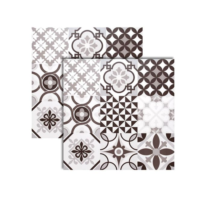 Porcelanato-Patchwork-Grigio-Acetinado-Retificado-61x61cm---61028---Realce