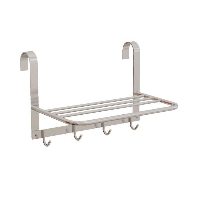 Porta-Toalha-Box-Aluminio-Plus-com-1-Haste-e-4-Cabides-39x26x23cm---25323---Sicmol