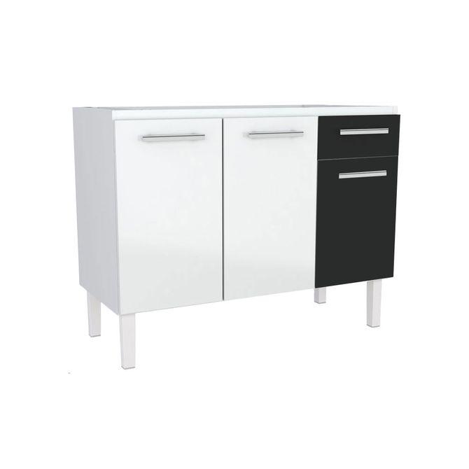 Gabinete-para-Cozinha-Urano-120mt-Branco-Preto---100001---Cozimax