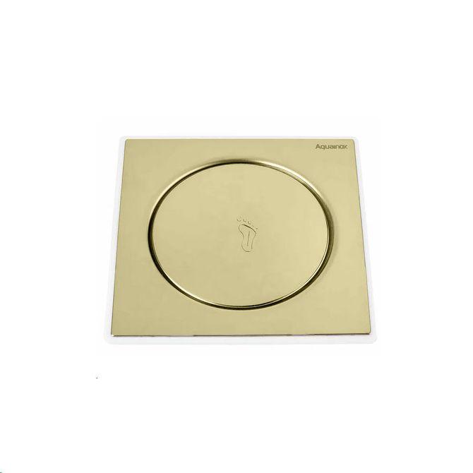 Ralo-Click-Quadrado-Aquainox-10x10cm-Dourado---Stamplas